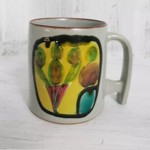 Coffee Mug Art Deco Mid Century Crazing Vintage